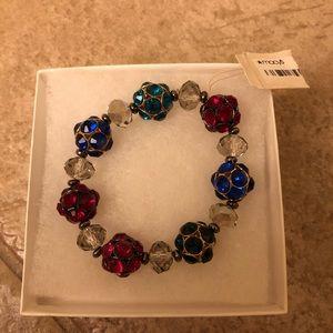 Macy's crystal bead bracelet